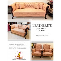 Tufted Leather Sofa