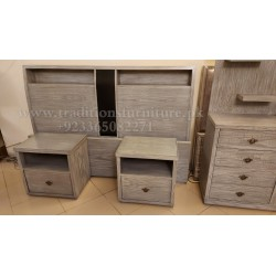 King Size Bedroom Set With Antique Polish