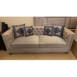 Straight Arm Chesterfield Sofa Set