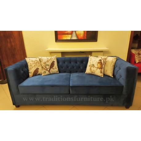 Straight Arm Chesterfield Sofa Set