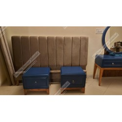 High Quality Finished, Fully Upholstered Bed Set
